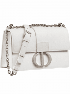 Dior White Montaigne Flap Bag