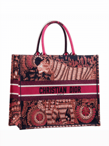 Dior Red Tiger Book Tote Bag
