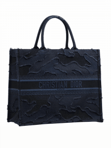 Dior Camouflage Denim Book Tote Bag