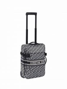 Dior Oblique Rollaway Luggage