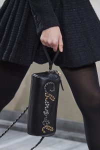 Chanel Black Chained Logo Clutch - Spring 2020