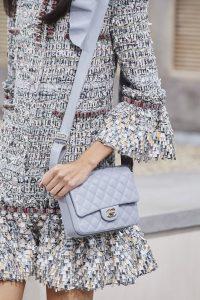 Chanel Grey Messenger Flap Bag - Spring 2020