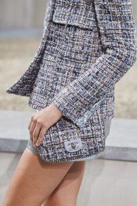 Chanel Grey Tweed Mini Flap Bag - Spring 2020