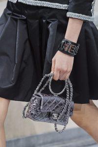 Chanel Silver Metallic Mini Flap Bag - Spring 2020