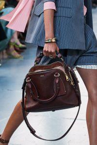 Chloe Burgund Daria Tote Bag