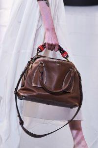 Chloe Dark Brown Daria Bag - Spring 2020