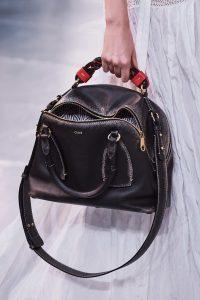 Chloe Distressed Black Daria Bag - Spring 2020