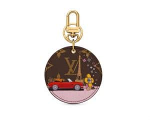 Louis Vuitton Xmas Vivienne Key Chain Round 2019