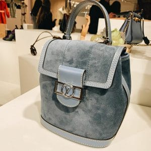 Louis Vuitton Blue Suede Dauphine Top Handle Spring 2020
