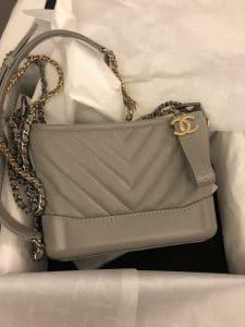 Chanel Gabrielle Grey Bag - Cruise 2020