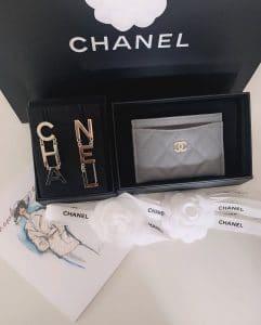 Chanel Cardholder Grey - Cruise 2020