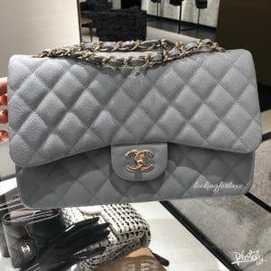 Chanel Classic Medium Flap Grey Bag - Cruise 2020