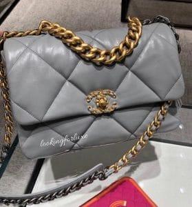 Chanel 19 Grey Medium Bag - Cruise 2020