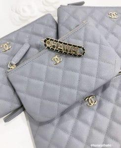 Chanel Grey Zippy - Cruise 2020