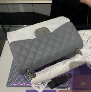 Chanel Cljassic Medium Flap Grey Bag - Cruise 2020