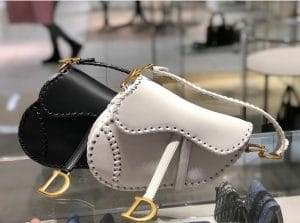 Dior White Saddle Bag with Braided Edge - Cruise 2020