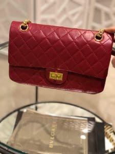 Chanel Re-Issue Red Mini Bag Gold Hardware
