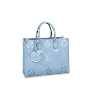 LV Summer Blue Monogram Empreinte Onthego MM