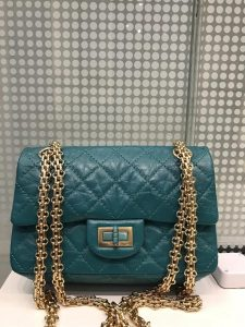 Chanel Re-Issue Green Mini Bag Gold Hardware