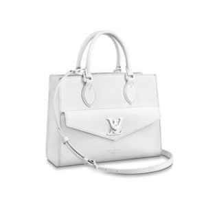 Louis Vuitton White Lock Me Tote Bag - Spring 2020
