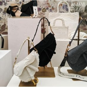Dior White Canvas Saddle Bag