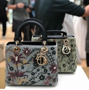 Lady Dior Embroidered Bag