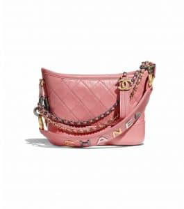 Chanel Pink Logo Small Gabrielle Bag