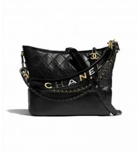 Chanel Large Black Logo Gabrielle Bag