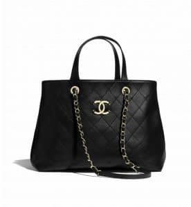 Chanel Black Shopping Tote Bag