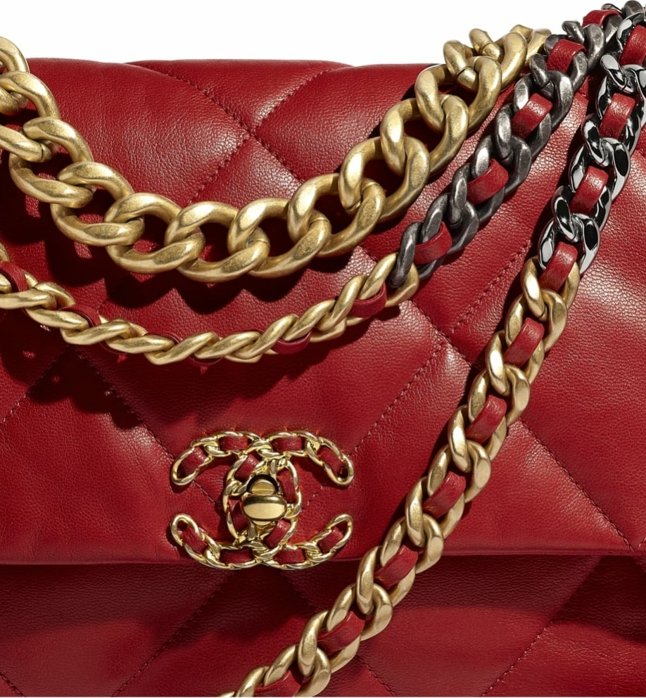 Chanel 19 Red Large Bag - Spring 2020