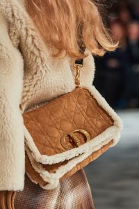 Dior 30 Montaigne Suede Shearling Bag - Fall 2020