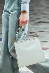 Dior White Kiss Lock Tote - Fall 2020