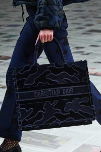 Dior Book Tote Camouflage Velvet - Fall 2020