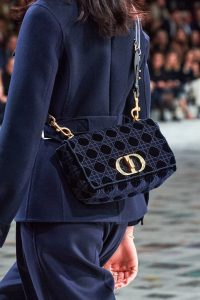 Dior 30 Montaigne Soft Sided Velvet Bag - Fall 2020