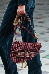 Dior Saddle Bag Velvet - Fall 2020