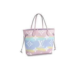 Loius Vuitton Neverfull MM Pink Escale Bag