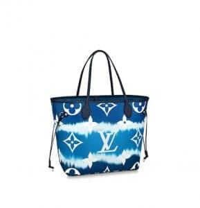 Louis Vuitton Neverfull MM Navy Escale Bag