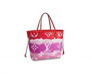 Louis Vuitton Neverfull MM Red Escale Bag