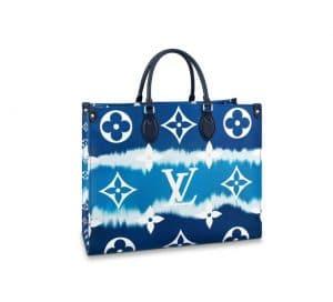 Louis Vuitton OntheGo Escale Navy Bag