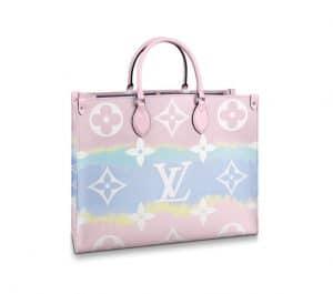 Louis Vuitton OntheGo Escale Pink Bag