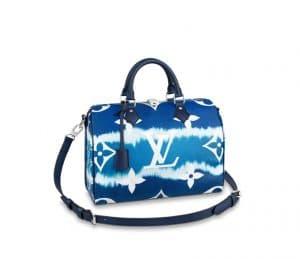 Louis Vuitton Speedy 30 Escale Navy Bag