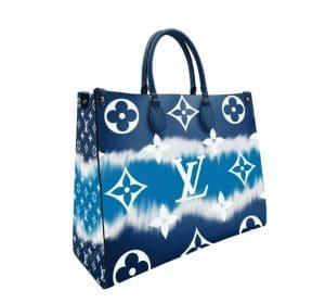 Louis Vuitton Blue Tie Dye OntheGo Bag
