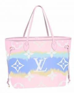 Louis Vuitton Pink Tie Dye Neverfull Bag