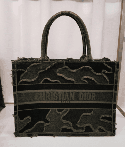 Dior Dark Green Velvet Book Tote - Fall 2020