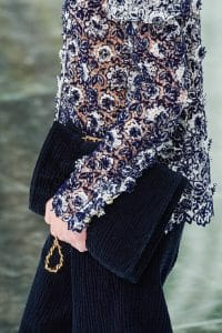 Chanel Corduroy Navy Flap Bag - Fall 2020