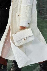 Chanel White Tweed Flap Bag - Fall 2020