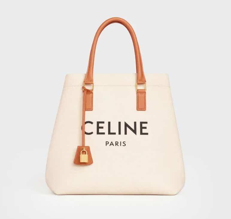 Celine Horizontal Cabas Logo Bag