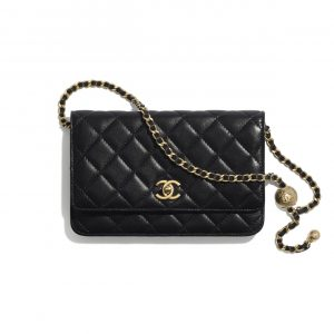Chanel Black Lambskin Wallet on Chain Bag