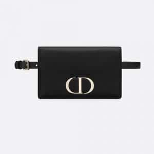 Dior Black 30 Montaigne Calfskin 2-in-1 pouch