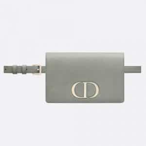 Dior Gray Stone 30 Montaigne Calfskin 2-in-1 pouch